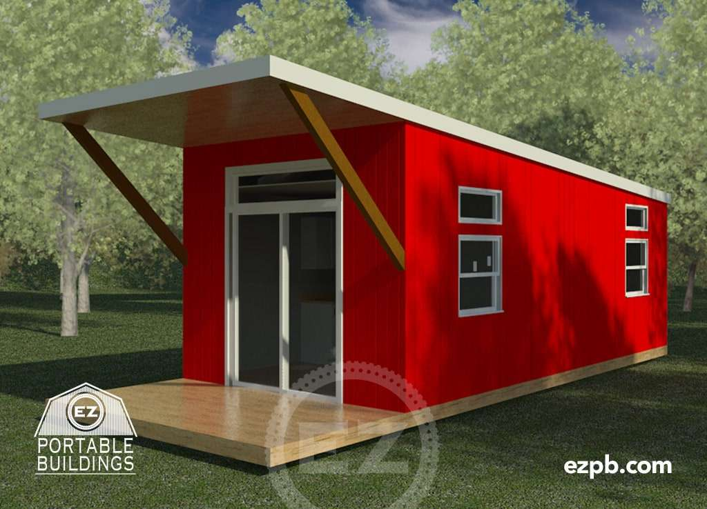 The austin 1 br ez portable buildings for Tiny house bedroom