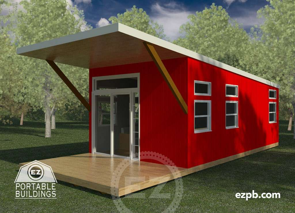 The austin 2 br ez portable buildings for Two bedroom tiny home