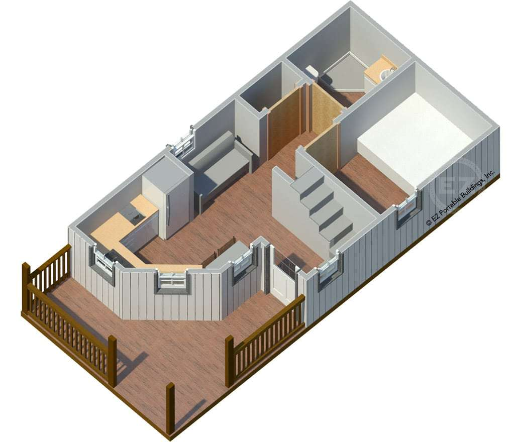 The Magnolia on Interior Deluxe Lofted Barn Cabin Floor Plans