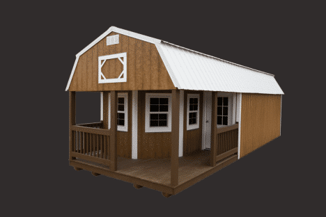 EZ portable buildings | cabins | deluxe lofted barn cabin