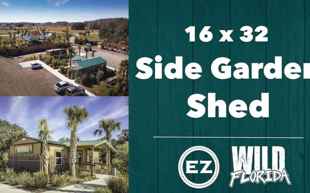 Wild Florida – 16×32 Side Garden Shed Safari Gift Shop